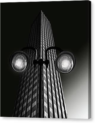 Lamp Post Canvas Print - Skyscraper With Glasses by Anette Ohlendorf