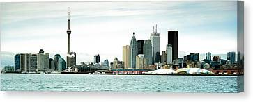 Skyscrapers At The Waterfront, Cn Canvas Print by Panoramic Images