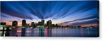 Skyscrapers At The Waterfront, New Canvas Print