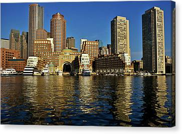 Skyscrapers At The Waterfront, Rowes Canvas Print by Panoramic Images