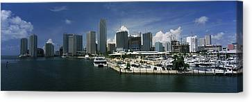 Miami Canvas Print - Skyscrapers At The Waterfront Viewed by Panoramic Images