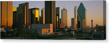 Skyscrapers In A City, Dallas, Texas Canvas Print by Panoramic Images
