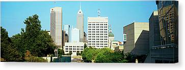 Skyscrapers In A City, Indianapolis Canvas Print