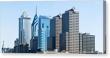 Skyscrapers In A City, Philadelphia Canvas Print by Panoramic Images