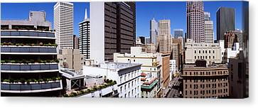 Skyscrapers In A City Viewed From Union Canvas Print by Panoramic Images