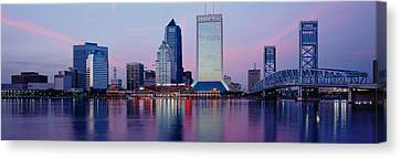 Skyscrapers On The Waterfront, St Canvas Print by Panoramic Images