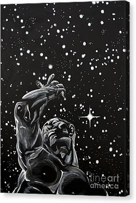 Canvas Print featuring the painting Skyward by Denise Deiloh