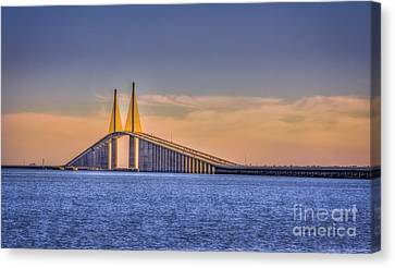 Navigation Canvas Print - Skyway Bridge by Marvin Spates