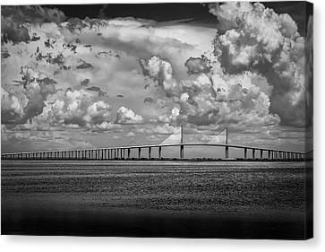 Sea Birds Canvas Print - Skyway Clouds by Marvin Spates