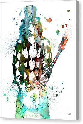 Slash 2 Canvas Print by Watercolor Girl