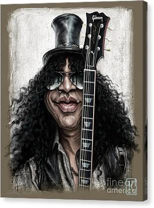 Slash Canvas Print - Slash by Andre Koekemoer