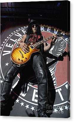 Slash Guitarist Canvas Print by Jenny Potter