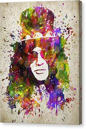 Slash In Color Canvas Print by Aged Pixel