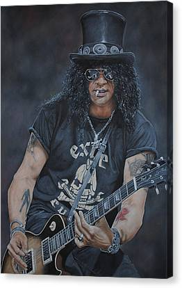 Slash Canvas Print - Slash Live by David Dunne