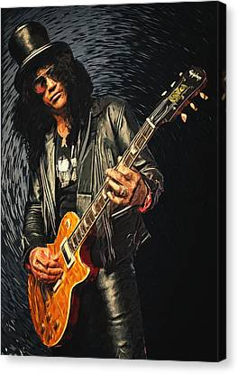 Slash Canvas Print by Taylan Apukovska