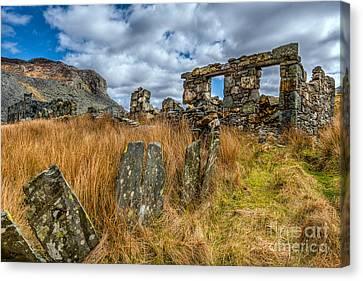 Slate Mine Ruins Canvas Print by Adrian Evans