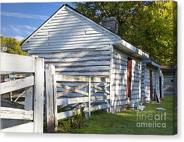 Franklin Tennessee Canvas Print - Slave Huts On Southern Farm by Brian Jannsen