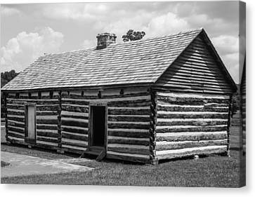 Canvas Print featuring the photograph Slave Quarters At The Hermitage by Robert Hebert