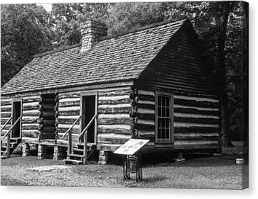 Canvas Print featuring the photograph Slave Quarters Belle Meade Plantation by Robert Hebert