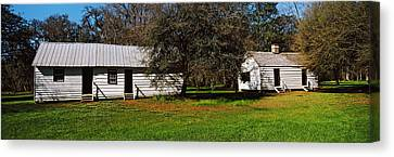 Slave Quarters, Magnolia Plantation And Canvas Print by Panoramic Images