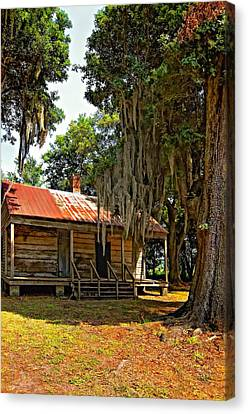 Evergreen Plantation Canvas Print - Slave Quarters by Steve Harrington