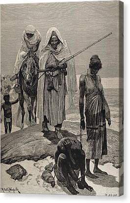 Slave Traders Returning To Timbuktu Canvas Print by Everett