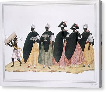Slaves Dressed For Fiesta Del Rosario Canvas Print by Everett