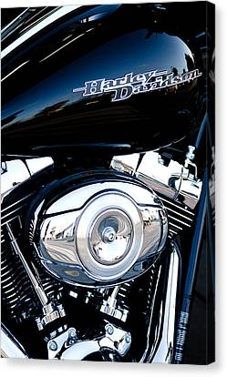 Sleek Black Harley Canvas Print by David Patterson