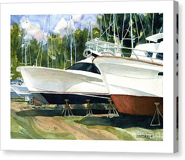 Sleek Hulls Canvas Print