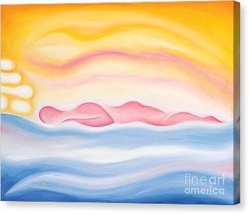 Canvas Print featuring the painting Sleep All Day by Tiffany Davis-Rustam