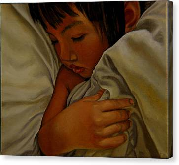 Canvas Print featuring the painting Sleep by Thu Nguyen