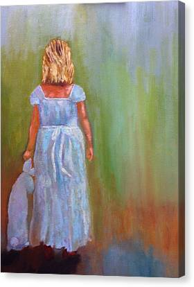 Into The Blue Canvas Print by Marie Hamby