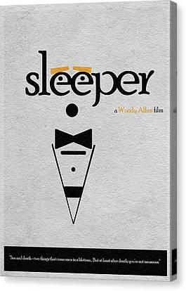 Woody Allen Canvas Print - Sleeper by Inspirowl Design