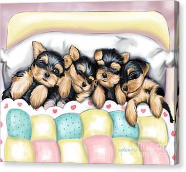 Sleeping Babies Canvas Print by Catia Cho