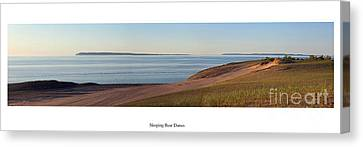 Sleeping Bear Dunes And Manitou Island Canvas Print by Twenty Two North Photography