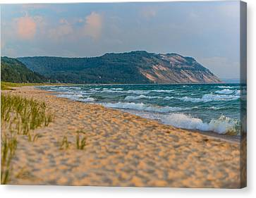 Sleeping Bear Dunes At Sunset Canvas Print by Sebastian Musial