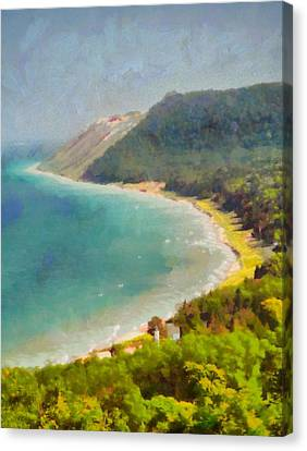 Mountain View Canvas Print - Sleeping Bear Dunes Lakeshore View by Dan Sproul