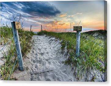Sleeping Bear National Lakeshore Sunset Canvas Print by Sebastian Musial