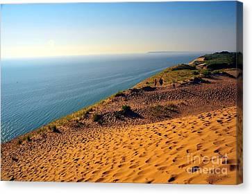 Lakeshore Canvas Print - Sleeping Bear Sand Dunes National Lakeshore by Terri Gostola