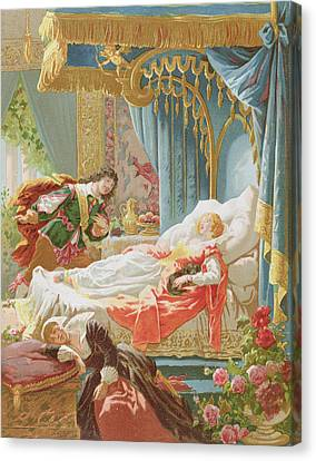 Sleeping Beauty And Prince Charming Canvas Print by Frederic Lix