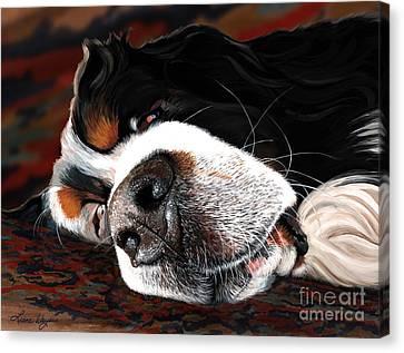 Sleeping Dogs Lie Canvas Print by Liane Weyers