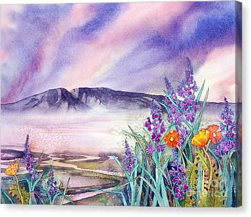 Sleeping Lady Sunset Canvas Print