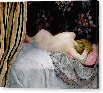 Sleeping Woman Canvas Print by Henri Lebasque