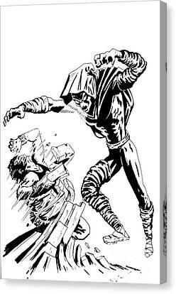 Sleepwalker Inked Canvas Print by Justin Moore
