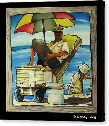 Sleepy Fisherman Canvas Print by Nandy King