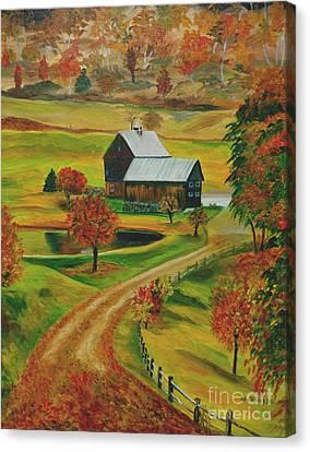 Sleepy Hollow Farm Canvas Print by Julie Brugh Riffey