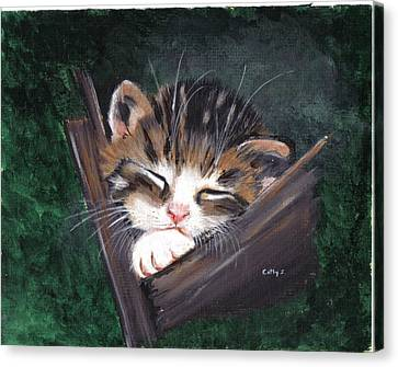 Sleepy Time Canvas Print by Catherine Swerediuk