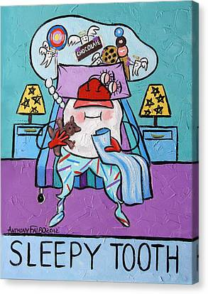 Sleepy Tooth Canvas Print by Anthony Falbo