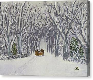 Sleigh Ride Through Time Canvas Print by Cynthia Morgan