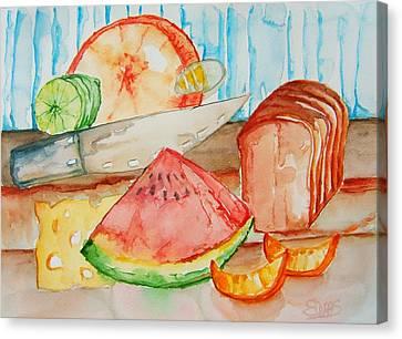 Slice It Canvas Print by Elaine Duras